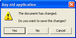 Do you want to save the changes? Yes/No/Cancel