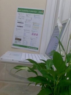 Photo of the Bad Usability Calendar at Ept Computing's office
