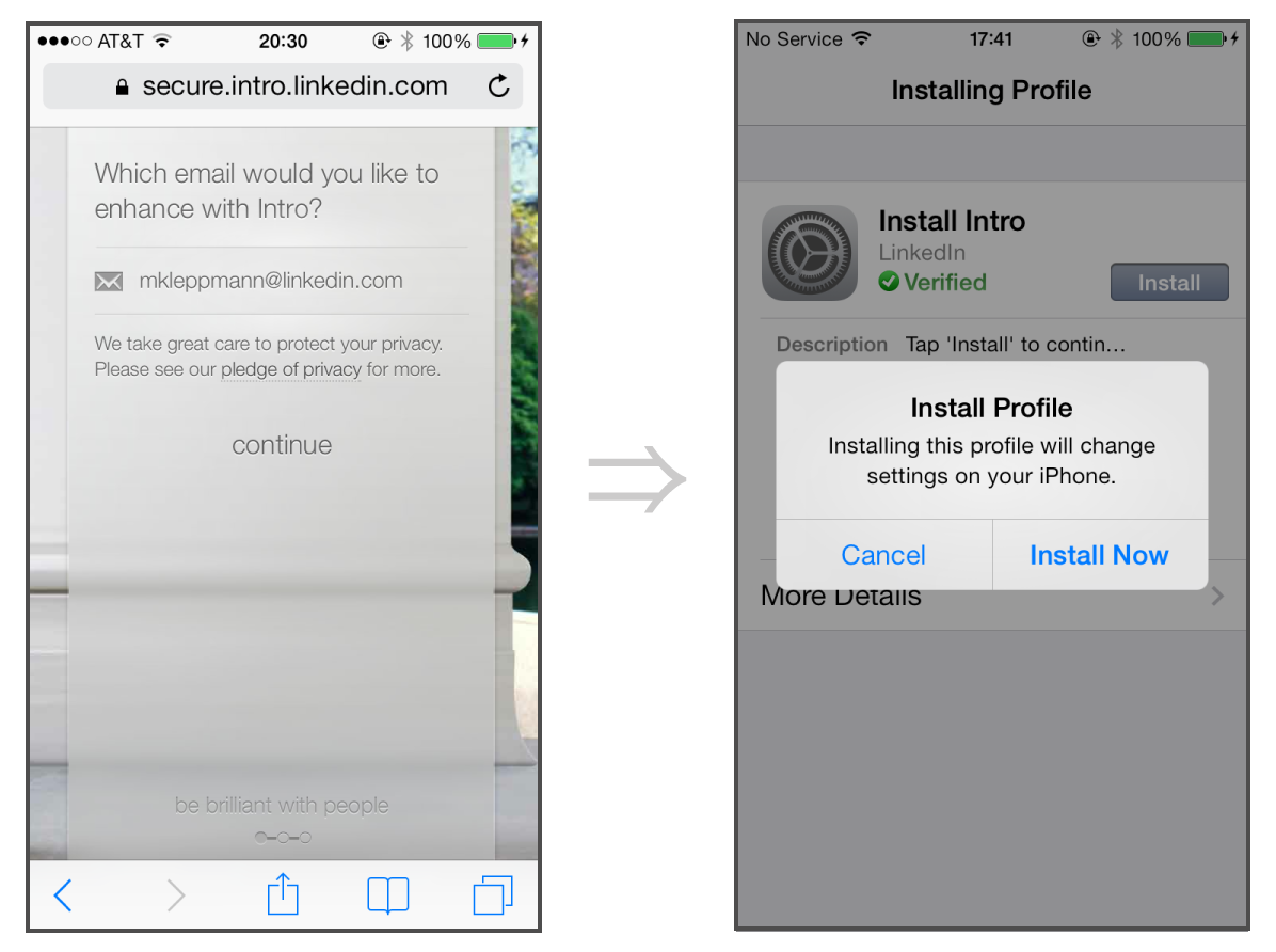 iOS configuration profiles make setup of new email accounts a breeze