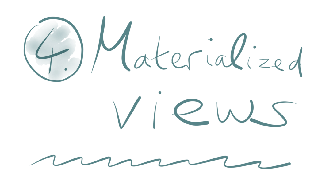 Title 4. Materialized views